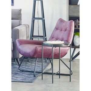 Moe's Home Collection Graduate Lounge Chair Purple - PK-1063-10 - Moe's Home Collection - lounge chairs - Minimal And Modern - 1