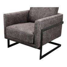 Moe's Home Collection Luxley Club Chair Grey Velvet - PK-1082-15
