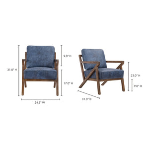 Moe's Home Collection Drexel Arm Chair Blue - PK-1084-19