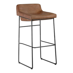 Moe's Home Collection Starlet Barstool Cappuccino-Set of Two - PK-1107-14