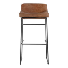 Moe's Home Collection Starlet Barstool Cappuccino-Set of Two - PK-1107-14 - Moe's Home Collection - Bar Stools - Minimal And Modern - 1