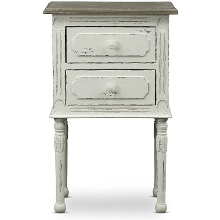 Baxton Studio Anjou Traditional French Accent Nightstand Baxton Studio-nightstands-Minimal And Modern - 1