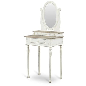 Baxton Studio Anjou Traditional French Accent Dressing Table with Mirror Baxton Studio--Minimal And Modern - 1