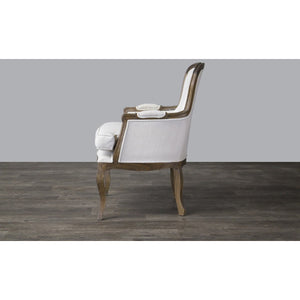Baxton Studio Napoleon Traditional French Accent Chair-Ash Baxton Studio-chairs-Minimal And Modern - 4