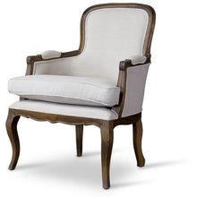 Baxton Studio Napoleon Traditional French Accent Chair-Ash Baxton Studio-chairs-Minimal And Modern - 1