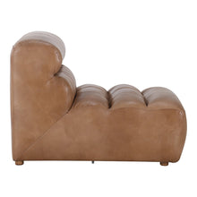 Moe's Home Collection Ramsay Leather Slipper Chair Tan - QN-1009-40