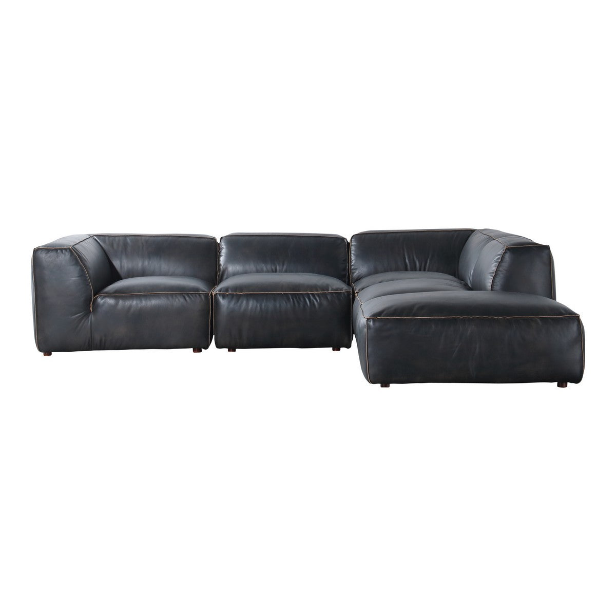Moe's Home Collection Luxe Lounge Modular Sectional Antique Black - QN-1023-01 - Moe's Home Collection - Extras - Minimal And Modern - 1
