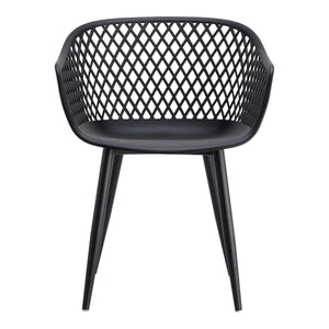 Moe's Home Collection Piazza Outdoor Chair Black-Set of Two - QX-1001-02 - Moe's Home Collection - Dining Chairs - Minimal And Modern - 1