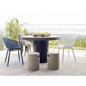 Moe's Home Collection Piazza Outdoor Chair Grey-Set of Two - QX-1001-15 - Moe's Home Collection - Dining Chairs - Minimal And Modern - 1