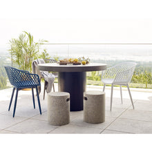 Moe's Home Collection Piazza Outdoor Chair Blue-Set of Two - QX-1001-26 - Moe's Home Collection - Dining Chairs - Minimal And Modern - 1