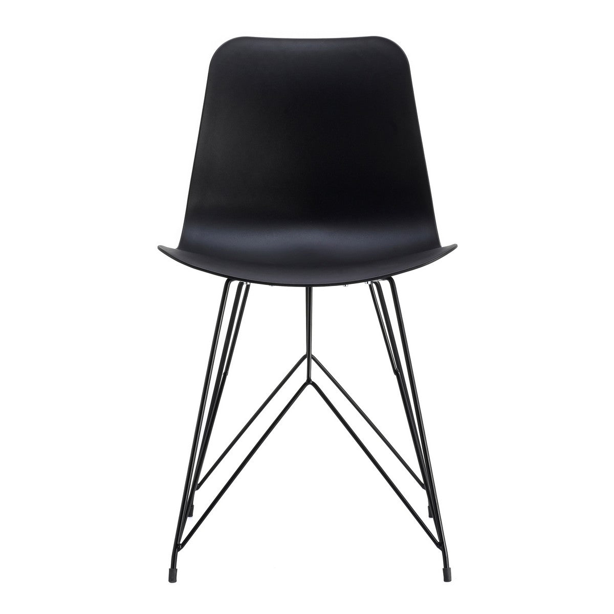 Moe's Home Collection Esterno Outdoor Chair Black-Set of Two - QX-1002-02 - Moe's Home Collection - Dining Chairs - Minimal And Modern - 1
