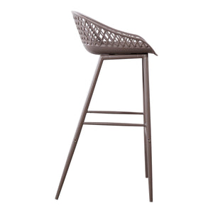 Moe's Home Collection Piazza Outdoor Barstool Grey-Set of Two - QX-1004-15