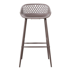 Moe's Home Collection Piazza Outdoor Barstool Grey-Set of Two - QX-1004-15 - Moe's Home Collection - Bar Stools - Minimal And Modern - 1