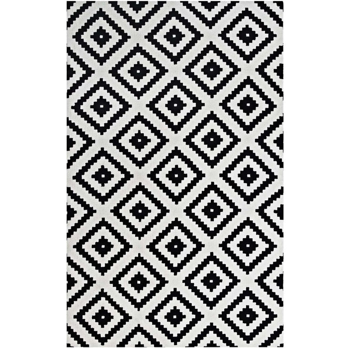 Minimal & Modern Alika Abstract Diamond Trellis 8x10 Area Rug - R-1004-810-Minimal & Modern