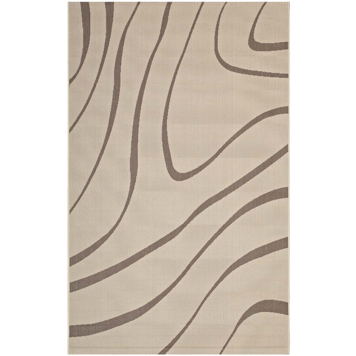 Minimal & Modern Surge Swirl Abstract 8x10 Indoor and Outdoor Area Rug - R-1138-810-Minimal & Modern