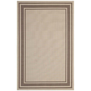 Minimal & Modern Rim Solid Border Borderline 8x10 Indoor and Outdoor Area Rug - R-1140-810-Minimal & Modern