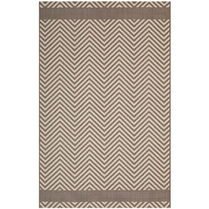 Minimal & Modern Optica Chevron With End Borders 8x10 Indoor and Outdoor Area Rug - R-1141-810-Minimal & Modern