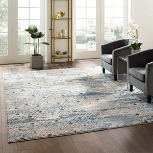 Modway Furniture Modern Tribute Eisley Rustic Distressed Transitional Diamond Lattice 8x10 Area Rug - R-1192-810
