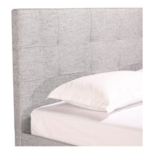 Moe's Home Collection Eliza Queen Bed Light Grey Fabric - RN-1020-29