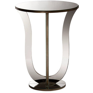 Baxton Studio Kylie Modern and Contemporary Hollywood Regency Glamour Style Mirrored Accent Side Table Baxton Studio-coffee tables-Minimal And Modern - 2