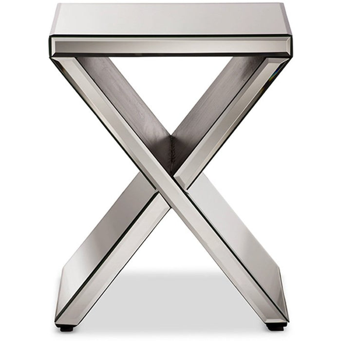 Baxton Studio Morris Modern and Contemporary Hollywood Regency Glamour Style Accent Side Table Baxton Studio-coffee tables-Minimal And Modern - 1