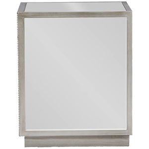 Baxton Studio Currin Contemporary Mirrored 3-Drawer Nightstand Baxton Studio-nightstands-Minimal And Modern - 3