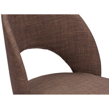Baxton Studio Lucas Mid-Century Style Brown Fabric Dining Chair (Set of 2) Baxton Studio-dining chair-Minimal And Modern - 4