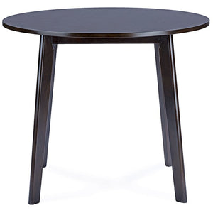 Baxton Studio Debbie Mid-Century Dark Brown Wood Round Dining Table Baxton Studio-dining table-Minimal And Modern - 2