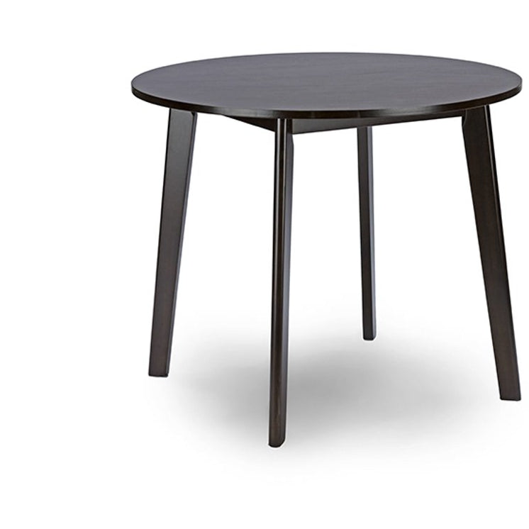 Baxton Studio Debbie Mid-Century Dark Brown Wood Round Dining Table Baxton Studio-dining table-Minimal And Modern - 1