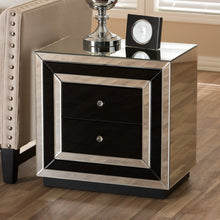 Baxton Studio Cecilia Hollywood Regency Glamour Style Mirrored 2-Drawer Nightstand Baxton Studio-nightstands-Minimal And Modern - 6