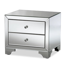 Baxton Studio Farrah Hollywood Regency Glamour Style Mirrored 2-Drawer Nightstand Baxton Studio-nightstands-Minimal And Modern - 2