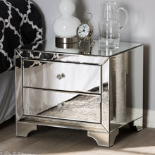 Baxton Studio Farrah Hollywood Regency Glamour Style Mirrored 2-Drawer Nightstand Baxton Studio-nightstands-Minimal And Modern - 1