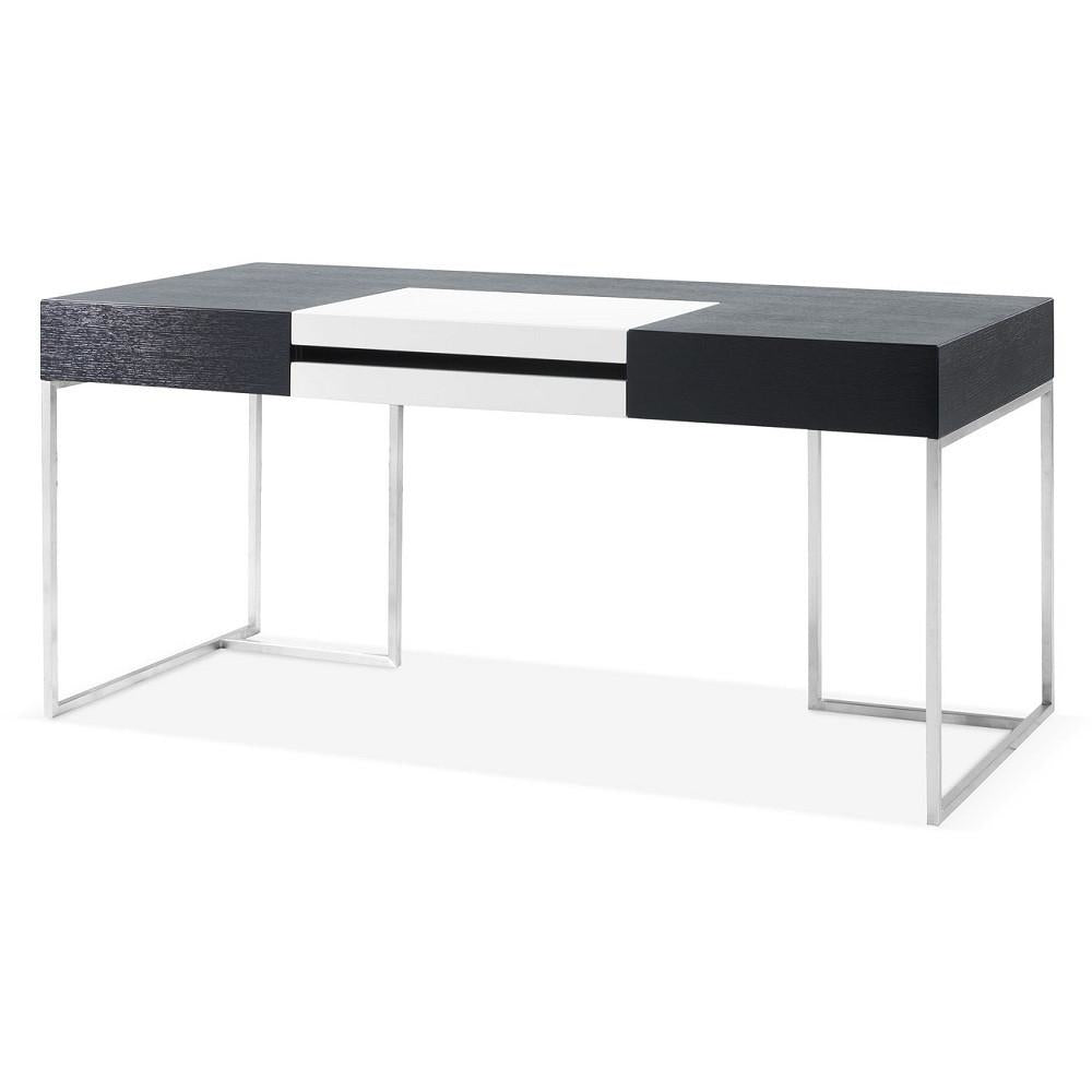 J&M Furniture Contemporary Metal Writing Work Computer S101 Modern Office Desk-Minimal & Modern