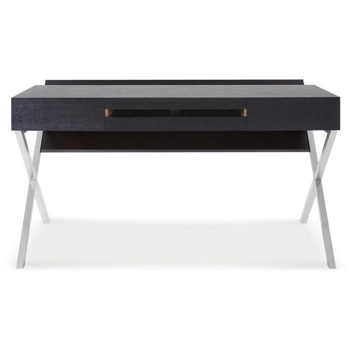 J&M Furniture Metal Base Contemporary Writing Work Computer S103 Modern Office Desk-Minimal & Modern