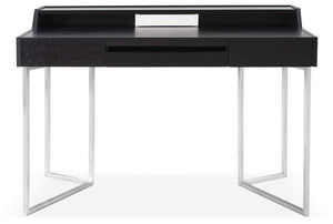 J&M Furniture Metal Base Contemporary Writing Work Computer S116 Modern Office Desk-Minimal & Modern
