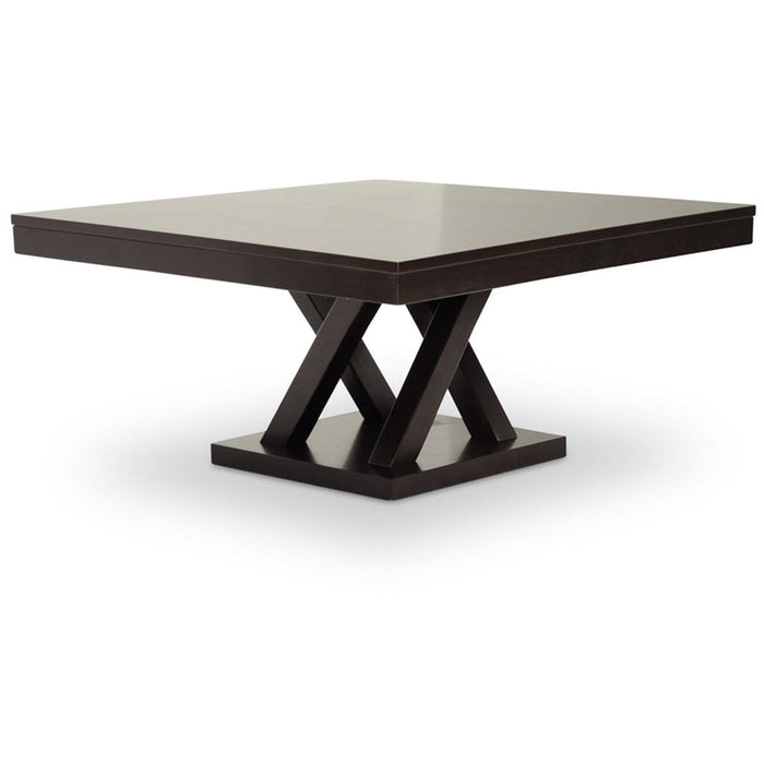 Baxton Studio Everdon Dark Brown Modern Coffee Table Baxton Studio-coffee tables-Minimal And Modern - 1