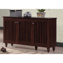 Baxton Studio Fernanda Modern and Contemporary 3-Door Oak Brown Wooden Entryway Shoes Storage Wide Cabinet Baxton Studio--Minimal And Modern - 6