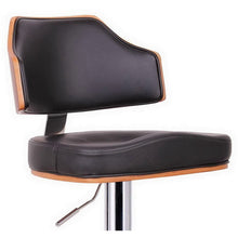 Baxton Studio Cabell Walnut and Black Modern Bar Stool  Baxton Studio-Bar Stools-Minimal And Modern - 2