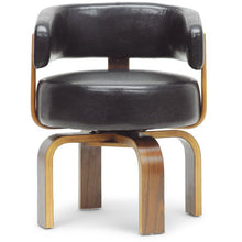 Baxton Studio Fortson Walnut and Black Modern Accent Chair Baxton Studio-office chairs-Minimal And Modern - 2