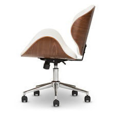 Baxton Studio Bruce Modern and Contemporary White and Walnut Office Chair Baxton Studio-office chairs-Minimal And Modern - 4