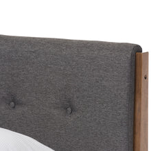 Baxton Studio Leyton Mid-Century Modern Grey Fabric Upholstered King Size Platform Bed  Baxton Studio-King Bed-Minimal And Modern - 5