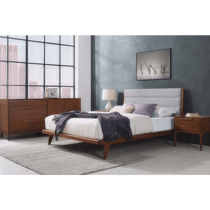 5pc Greenington Mercury Modern Bamboo Queen Bedroom Set (Includes: 1 Queen Bed, 2 Nightstands, 2 Chests)-Minimal & Modern