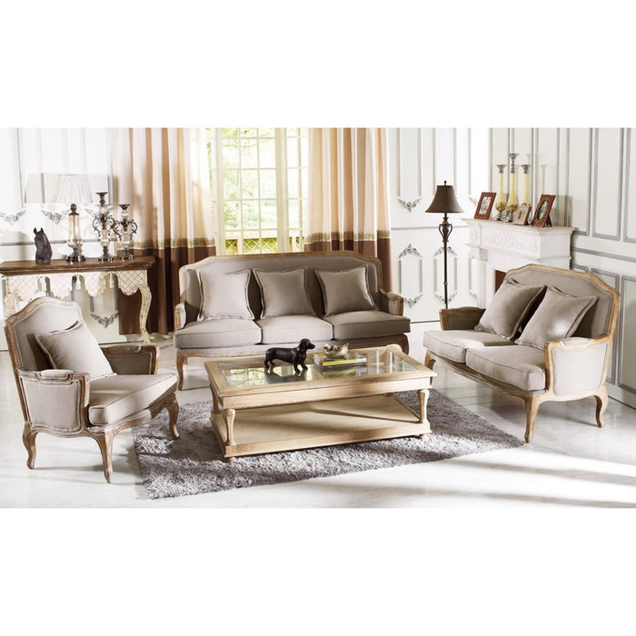 Baxton Studio Constanza Classic Antiqued French Sofa Set Baxton Studio--Minimal And Modern - 1