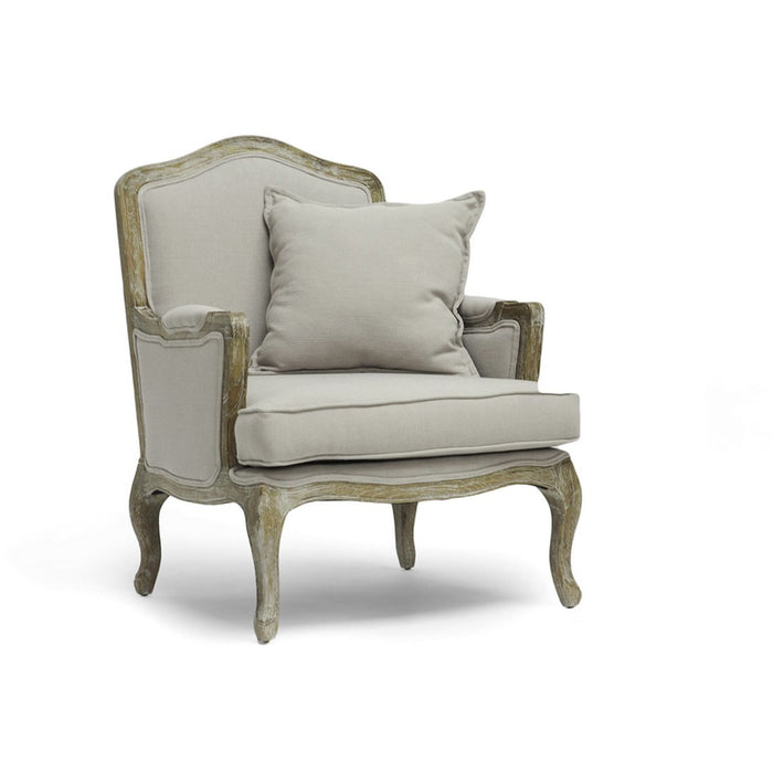 Baxton Studio Constanza Classic Antiqued French Accent Chair Baxton Studio-chairs-Minimal And Modern - 1
