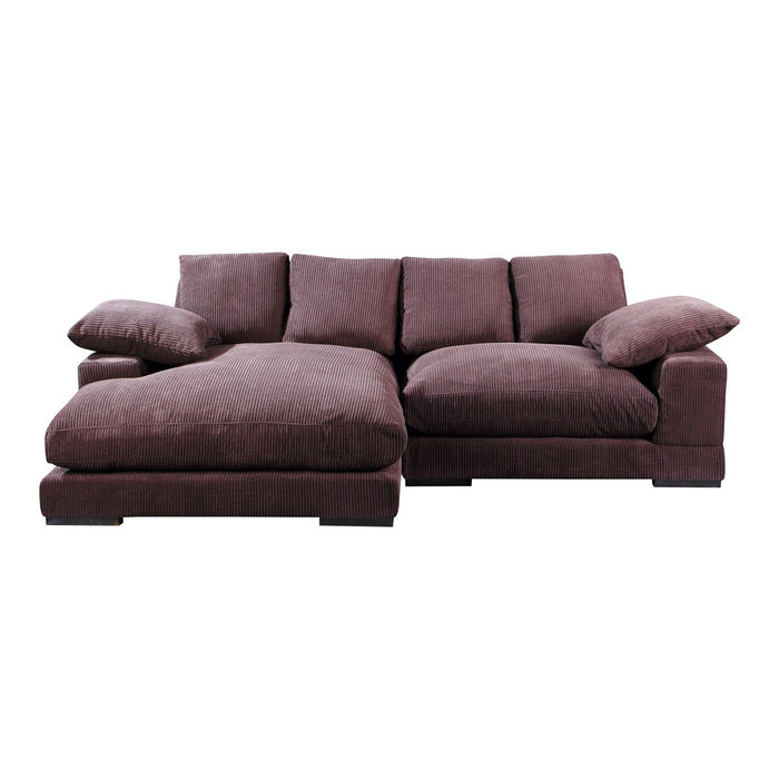 MOE'S HOME COLLECTION PLUNGE SECTIONAL DARK BROWN - TN-1004-20-Minimal & Modern