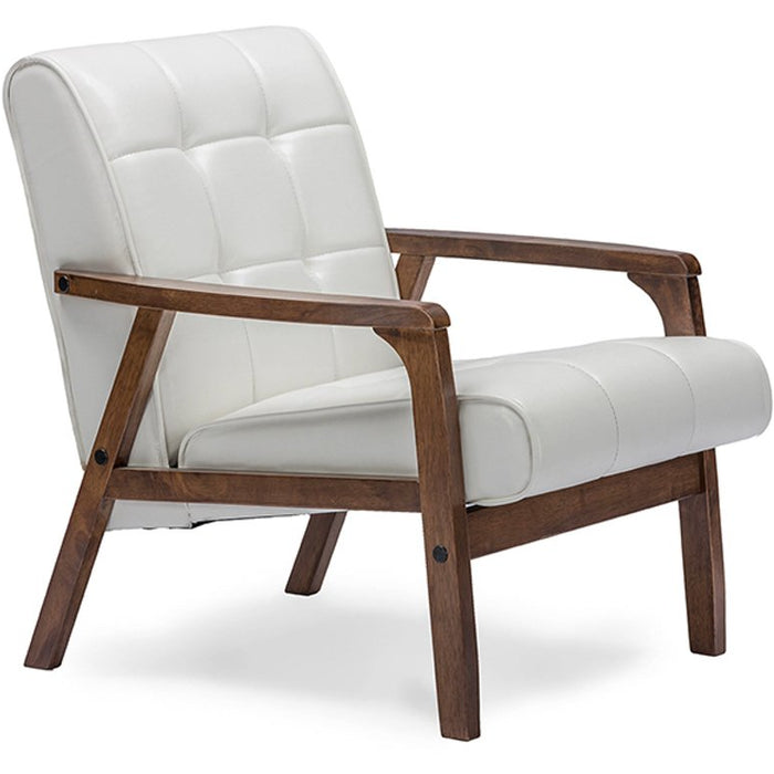 Baxton Studio Baxton Studio Mid-Century Masterpieces Club Chair - White Baxton Studio-chairs-Minimal And Modern - 1