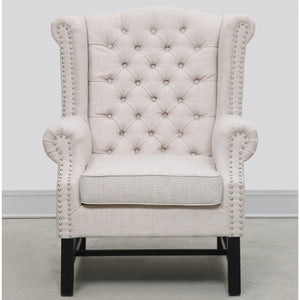 TOV Furniture Modern Fairfield Beige Linen Club Chair TOV-63102-Beige-Minimal & Modern