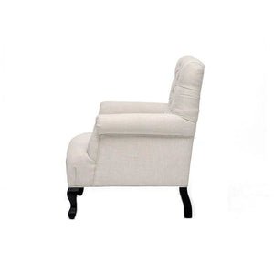 TOV Furniture Modern York Beige Linen Club Chair TOV-63108-Beige-Minimal & Modern