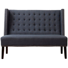 TOV Furniture Modern Halifax Grey Linen Banquette Bench TOV-63114-Grey-Minimal & Modern