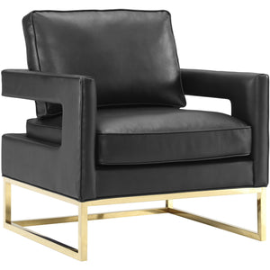 TOV Furniture Modern Avery Black Leather Chair TOV-A112-Minimal & Modern